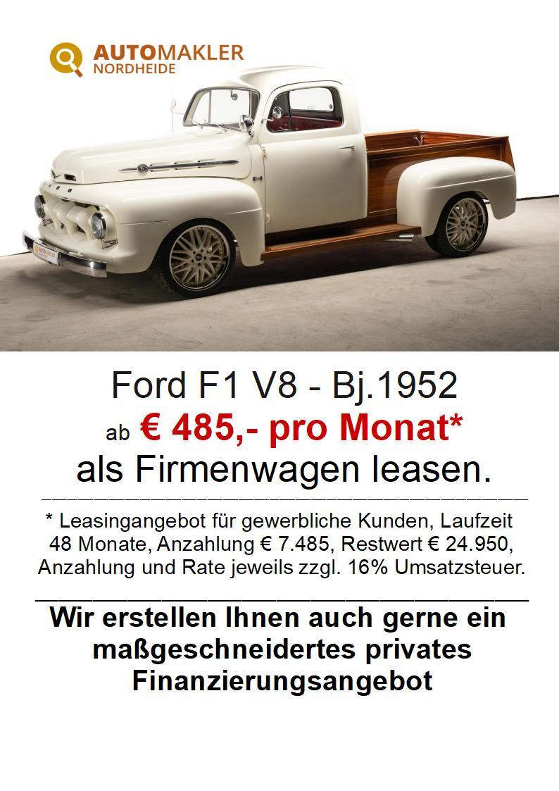 Ford F 1 -V8 mit LKW-Zulassung in Note 2+