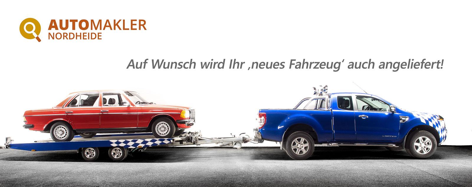"""Unser Service: Auf Wunsch wird Ihr """"neues Fahrzeug"""" kostengünstig angeliefert."""