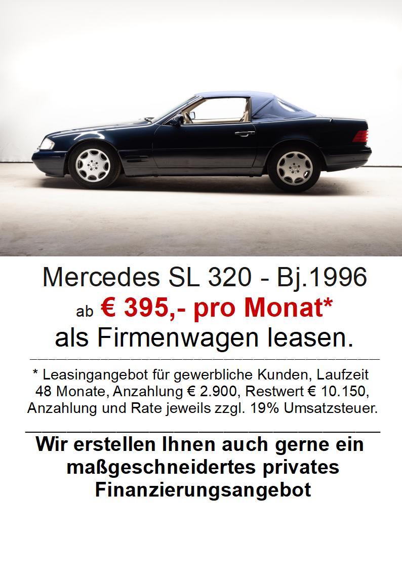 Mercedes-Benz SL 320 wenig KM - sehr guter Pflegezustand 2+