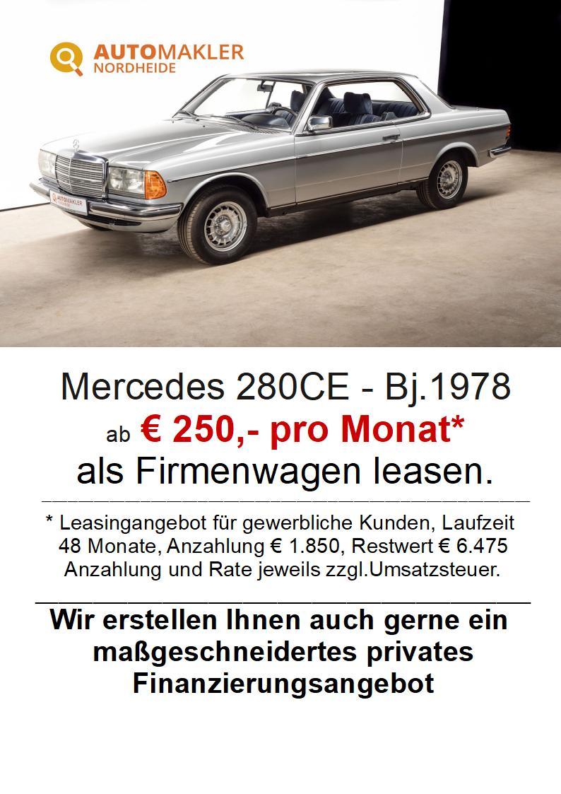 Mercedes-Benz 280CE - Automatik - ESSD - TÜV Neu