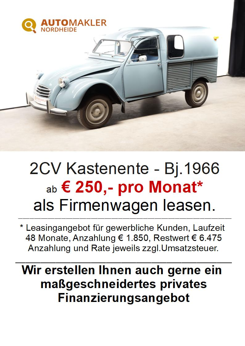 Citroën Kastenente - neuwertiger Zustand - H + TÜV Neu