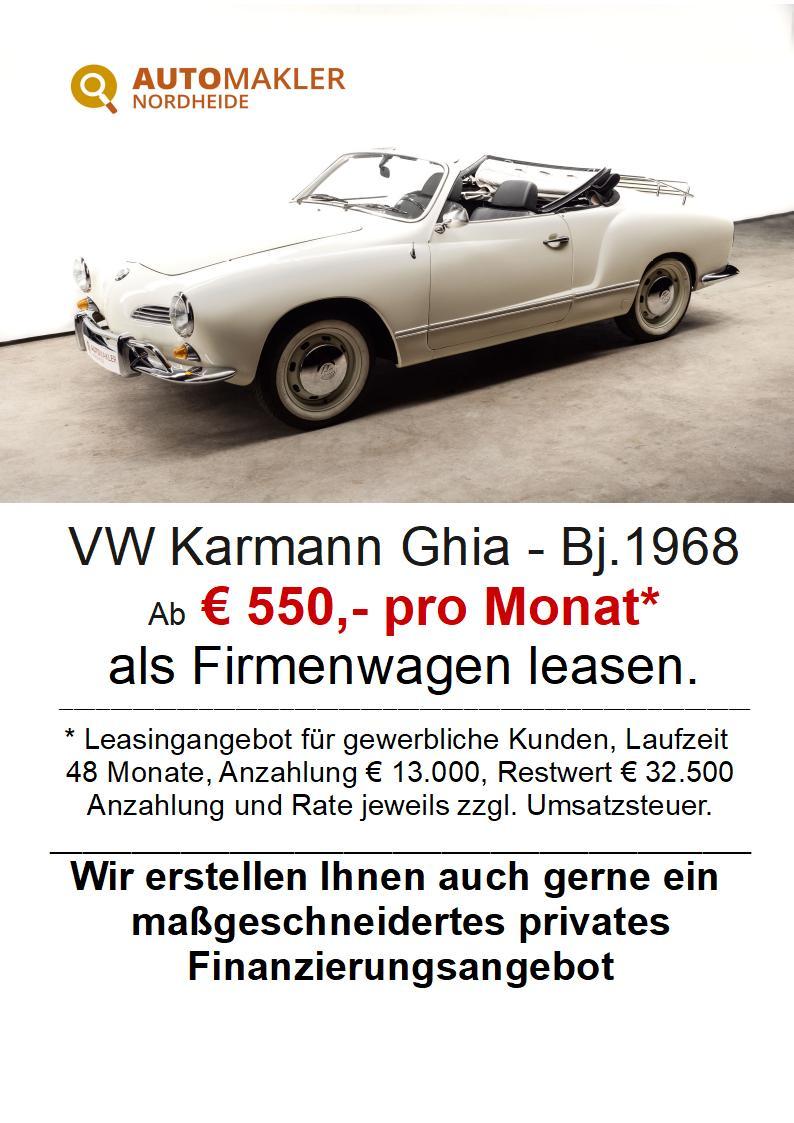 Volkswagen Karmann Ghia - neuwertiger Zustand - H+TÜVNeu