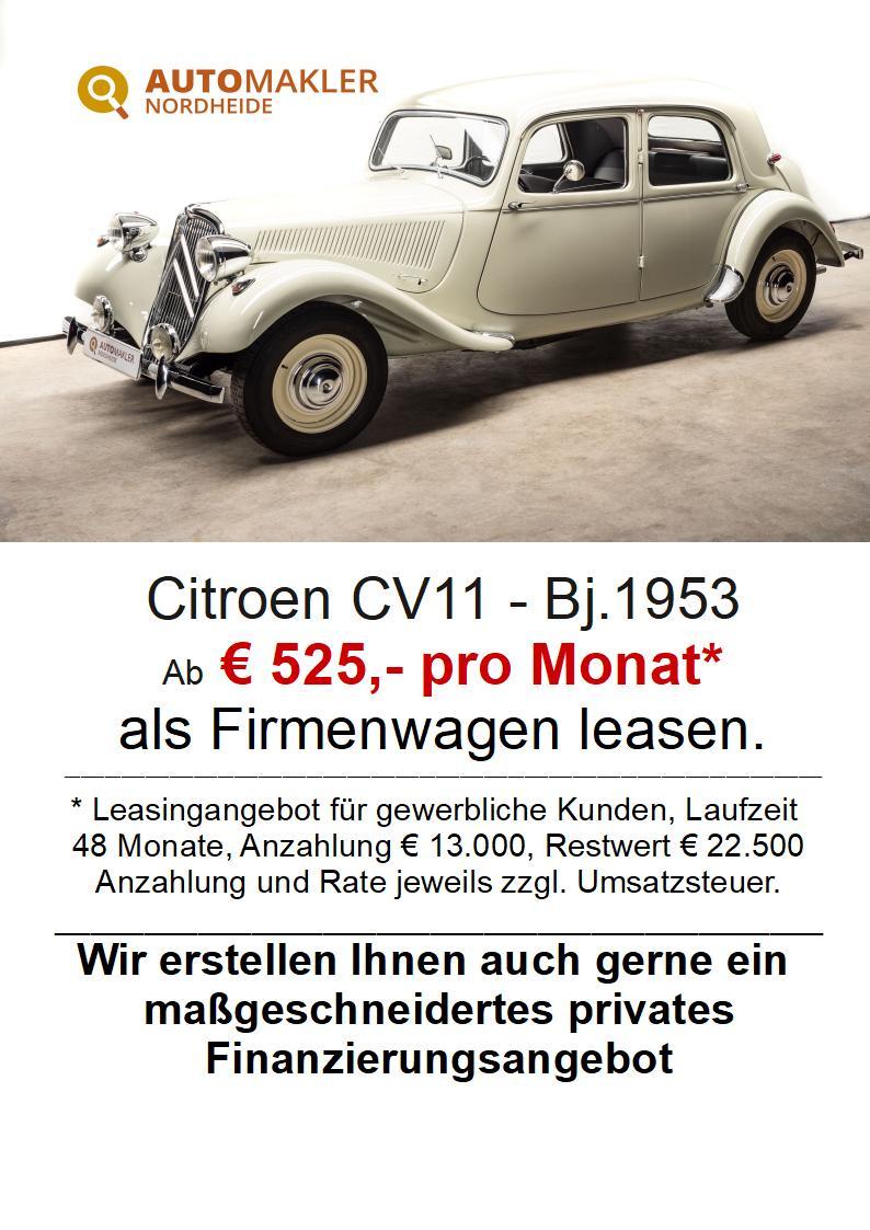 Citroën CV11- Legere - neuwertiger Zustand - H + TÜV Neu