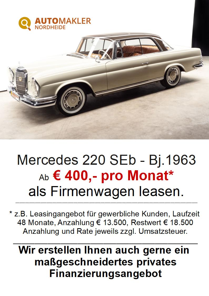 Mercedes-Benz 220 SEb - mit SSD - Gutachten 2 aus 2021